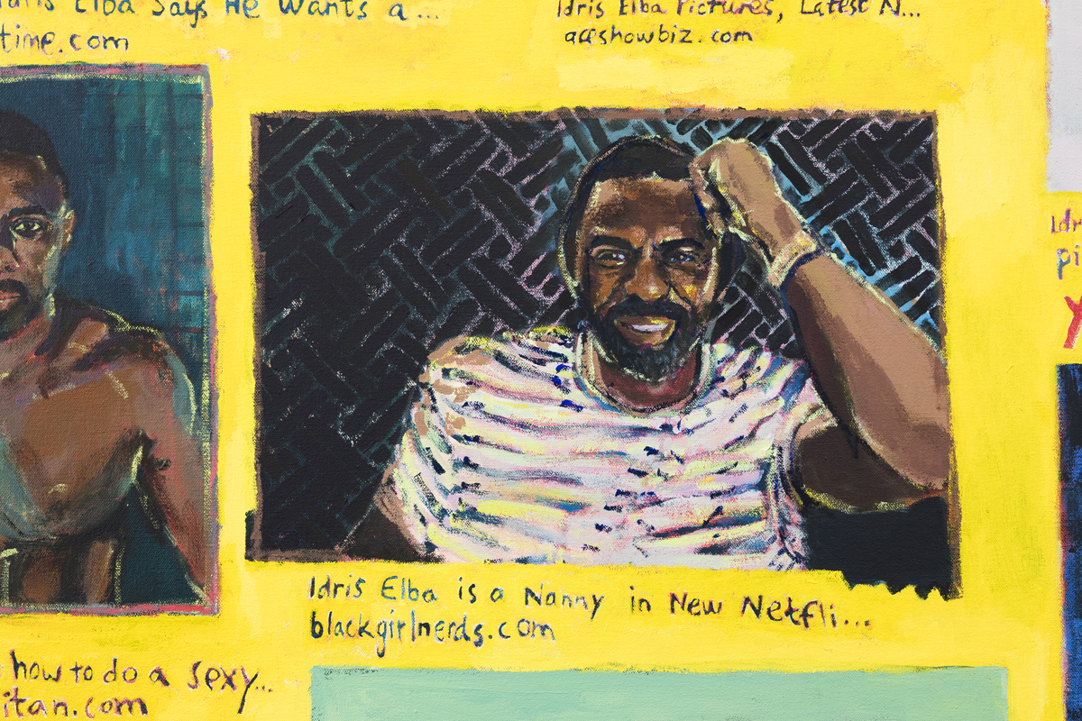 Ida Lawrence, Idris, (detail), 2018, acrylic on canvas, 138 x 108 cm. Image: Silversalt